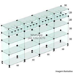 Balcão de Vidro Baleiro 1,10  x 2,40