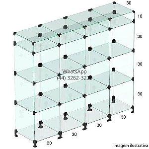 Balcão de Vidro - 1,10 x 1,20