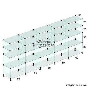 Balcão de Vidro - 1,10 x 3,00