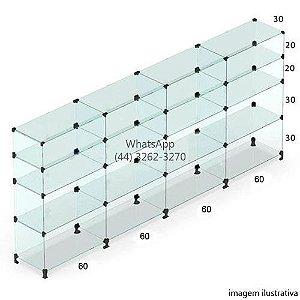 Balcão de Vidro - 1,10 x 2,40