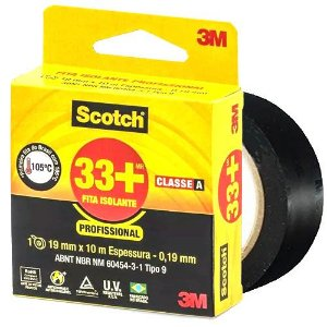 Fita Isolante 3m Scotch Profissional Classe A - 19 mm x 10m