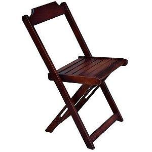 Cadeira Prime de Madeira Imbuia Dobrável