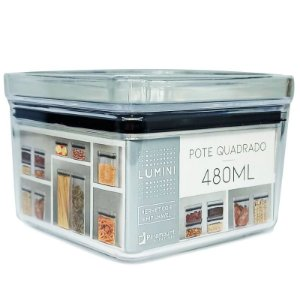 Pote Quadrado Lumini 480 ml Paramount
