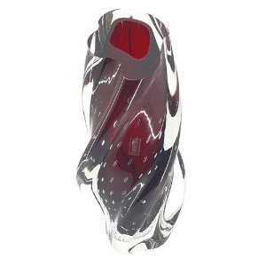 Vaso Torcido Grande Vermelho Em Cristal Murano São Marcos