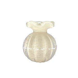 Vaso Cristal Pequeno Frufru Perola São Marcos