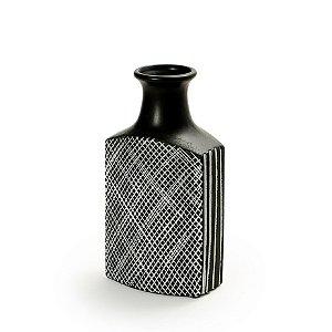 Vaso De Cerâmica Decorativo Decorglass Preto Pequeno