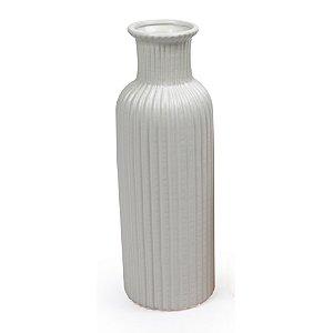 Vaso De Cerâmica Decorativo Decorglass Branco
