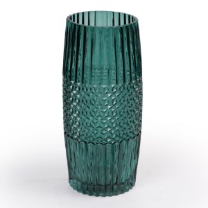 Vaso De Vidro Decor Glass Verde