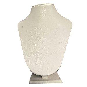 Expositor De Colar Busto Reto Com Ponta Suedi Pequeno