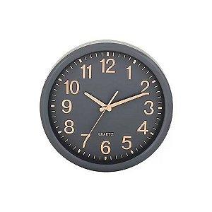 09400 - Relógio De Parede Cinza E Rose Gold