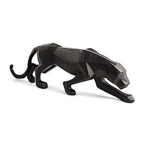 12425 - Escultura Leopardo Em Poliresina