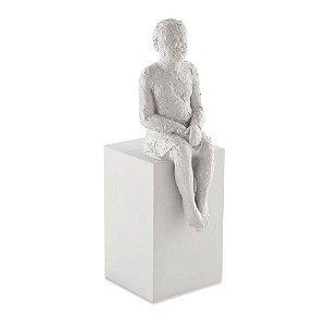 12791 - Escultura Em Pessoa Poliresina