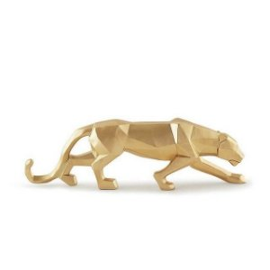 13098 - Escultura Leopardo Em Poliresina