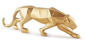 13099 - Escultura Leopardo Em Poliresina
