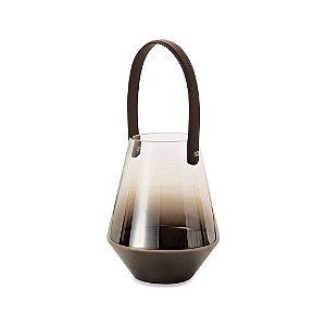 09414 - Lanterna Black Níquel em Vidro