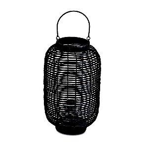 10050 - Lanterna Preta em Rattan