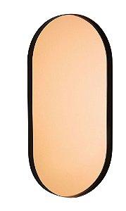 12468 - Espelho Cobre em Metal Preto