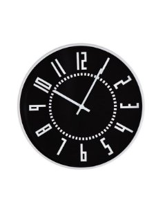 12946 - Relógio de Parede Preto e Branco