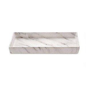 Bandeja Retangular Cerâmica Marmore Decorativa 08713