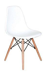 Cadeira Em Abs Com Base Em Madeira Umix 331f Branco