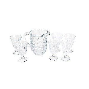 Conjunto 7 Taças De Cristal Para Agua Lile 1,5 Litros 240 Ml