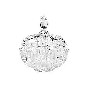 Potiche Decorativo C/ Pé De Cristal Elisabeth 15x17,5cm