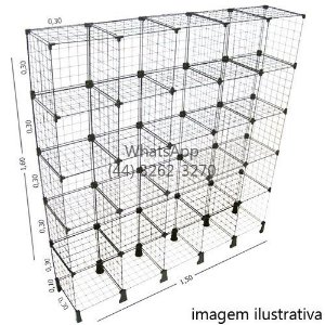 Prateleira em Tela 1,50m x 1,60m x 0,30m