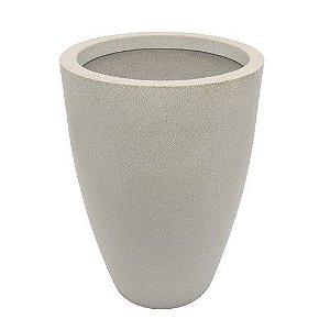 Vaso Cone Liso 77cm Branco Marmore