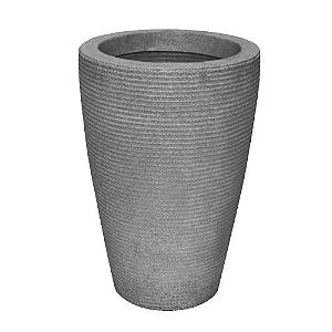 Vaso Cone Riscato 55cm Cinza Granito
