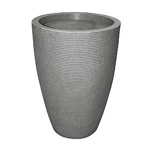 Vaso Cone Riscato 77cm Cinza Granito