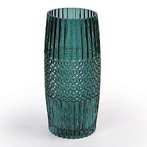 Vaso De Vidro Decor Glass Verde