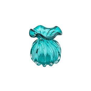 Vaso De Vidro Italy Tiffany 10 X 11 Cm