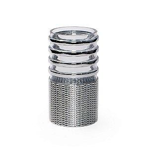 Vaso De Vidro Pequeno Decor Glass Prata