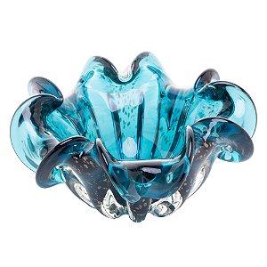 4470 Centro De Mesa De Vidro Italy Azul Marinho E Rose 24x11cm