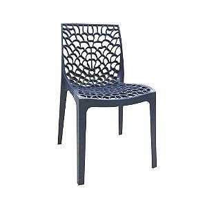 Cadeira Gruvyer Polipropileno Alto Brilho Azul