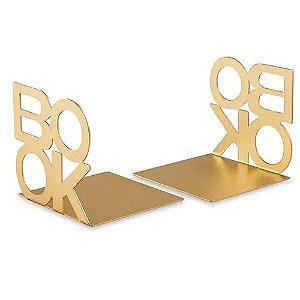 10945 - Aparador de Livros Dourado em Metal