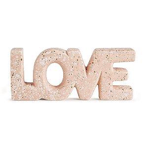 11283 - Love Rosa Em Cerâmica