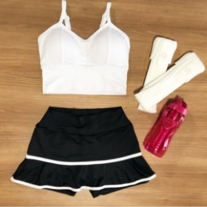 Fitness - Shorts Saia 609 Babado