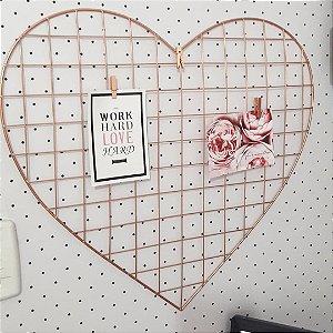 Memory board coração aramado com pregadores
