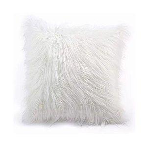 Almofada pelúcia alta branca