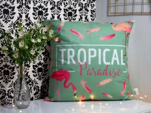 Almofada flamingo tropical