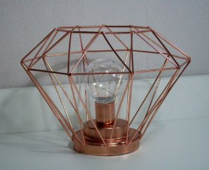 Luminária diamante rose gold