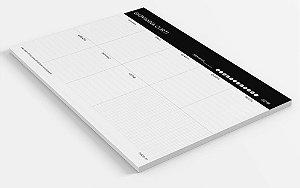 Planner de mesa semanal personalizado sucesso