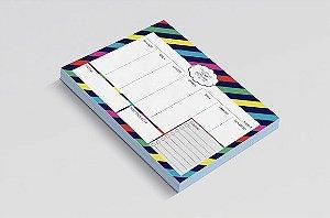 Planner de mesa semanal personalizado stripes kate