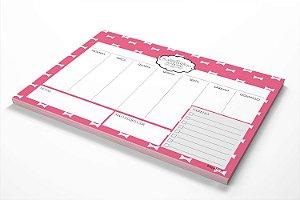 Planner de mesa semanal personalizado lacinhos