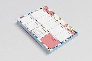 Planner de mesa semanal personalizado floristry 3