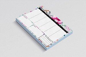 Planner de mesa semanal personalizado floral