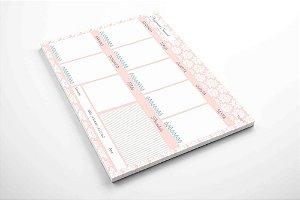 Planner de mesa semanal lótus