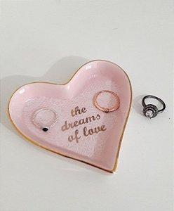 Porta joias coração rosa