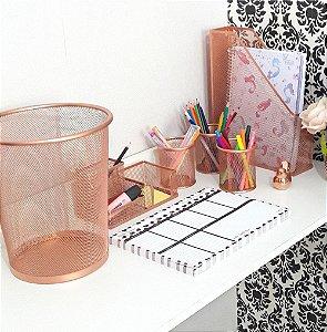 Kit mesa escritório aramado 4 peças